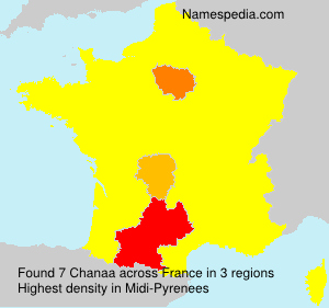 Surname Chanaa in France