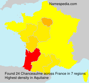 Surname Chanceaulme in France