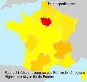 Surname Chanthavong in France