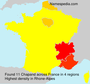 Surname Chapand in France
