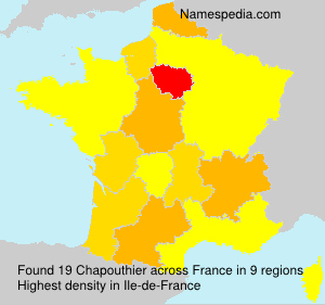 Surname Chapouthier in France