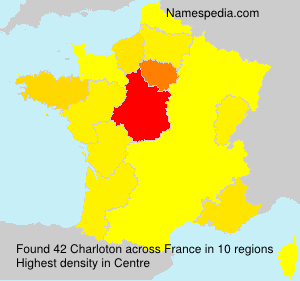 Surname Charloton in France