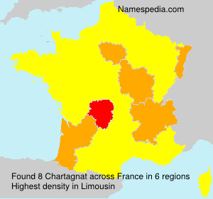 Surname Chartagnat in France