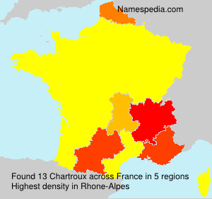 Surname Chartroux in France