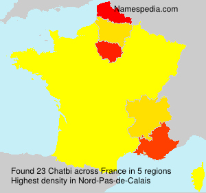 Surname Chatbi in France