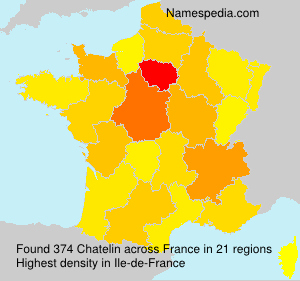 Surname Chatelin in France