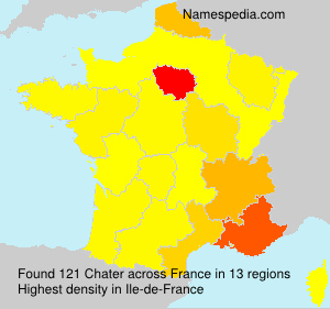 Surname Chater in France