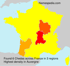 Surname Chedas in France
