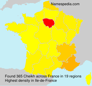 Surname Cheikh in France