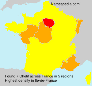 Surname Chelif in France