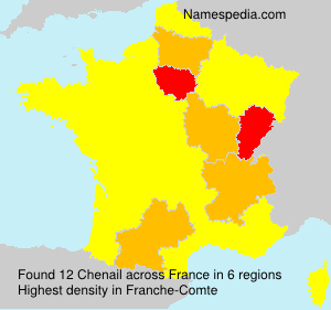 Surname Chenail in France