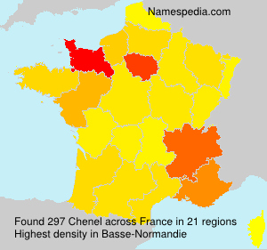 Surname Chenel in France