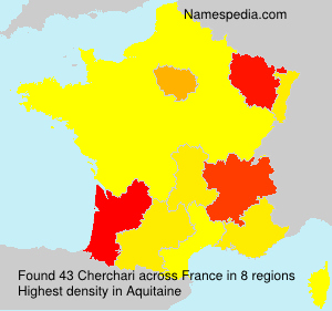 Surname Cherchari in France