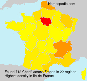 Surname Cherifi in France