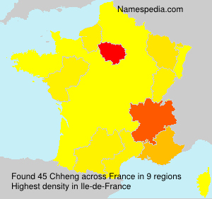 Surname Chheng in France