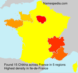 Surname Chikha in France