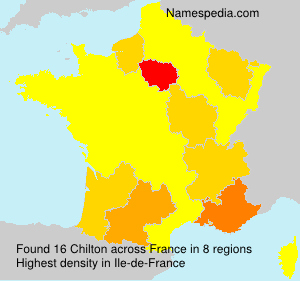 Surname Chilton in France