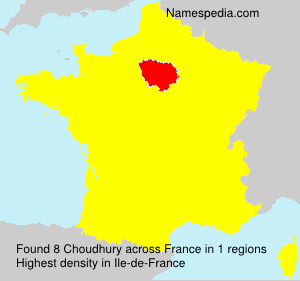 Surname Choudhury in France