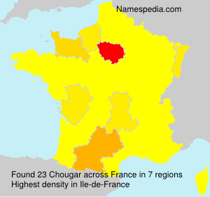 Surname Chougar in France