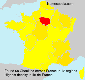 Surname Chouikha in France