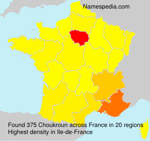 Surname Choukroun in France