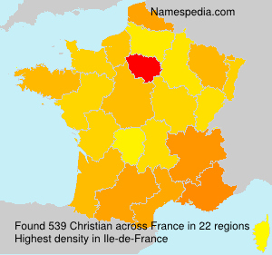 Surname Christian in France