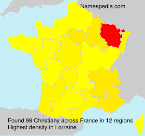 Surname Christiany in France