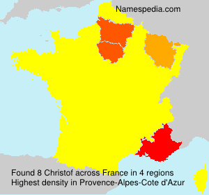 Surname Christof in France