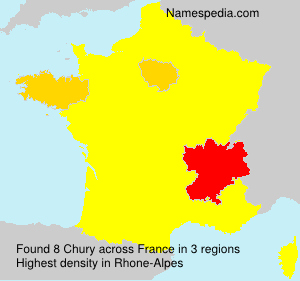 Surname Chury in France