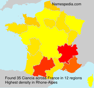Surname Ciancia in France