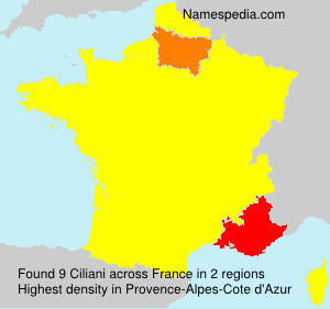 Surname Ciliani in France