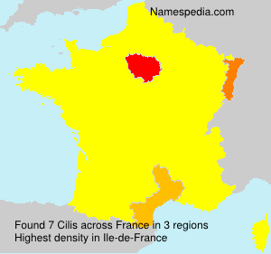 Surname Cilis in France
