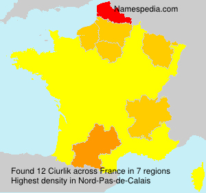 Surname Ciurlik in France