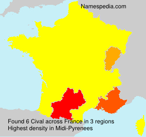 Surname Cival in France