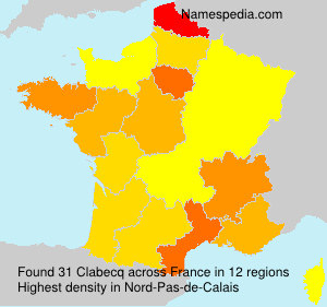 Surname Clabecq in France