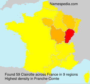 Surname Clairotte in France