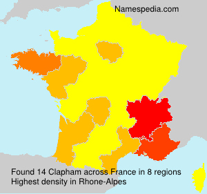 Surname Clapham in France