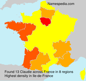 Surname Claudie in France