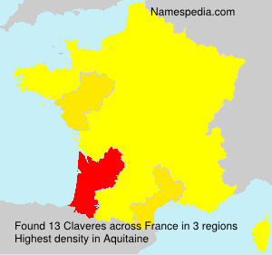 Surname Claveres in France