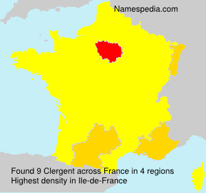 Surname Clergent in France