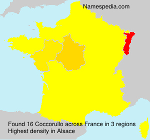 Surname Coccorullo in France