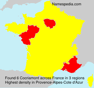 Surname Cocriamont in France