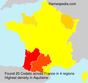 Surname Codato in France