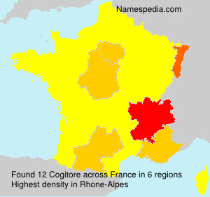 Surname Cogitore in France