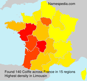 Surname Coiffe in France
