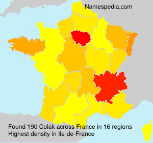 Surname Colak in France