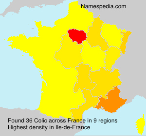 Surname Colic in France