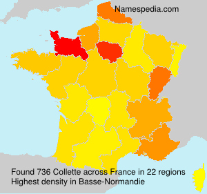 Surname Collette in France