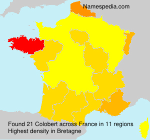 Surname Colobert in France