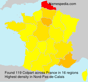 Surname Colpart in France